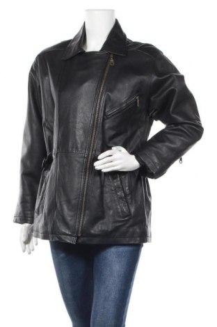 Дамско кожено яке, Размер M, Цвят Черен, Естествена кожа, Цена 50,27лв.