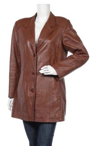 Дамско кожено яке, Размер M, Цвят Кафяв, Естествена кожа, Цена 37,33лв.