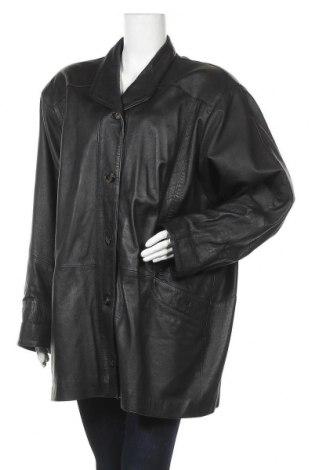 Дамско кожено яке, Размер XL, Цвят Черен, Естествена кожа, Цена 23,91лв.