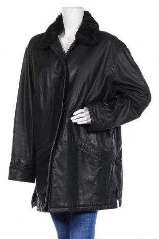 Дамско кожено яке, Размер XXL, Цвят Черен, Естествена кожа, Цена 79,80лв.