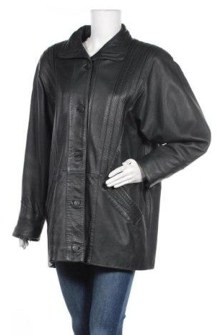 Дамско кожено яке, Размер L, Цвят Зелен, Естествена кожа, Цена 22,18лв.