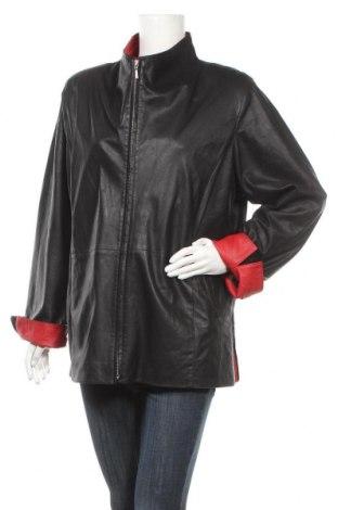 Дамско кожено яке, Размер XL, Цвят Черен, Естествена кожа, Цена 81,90лв.