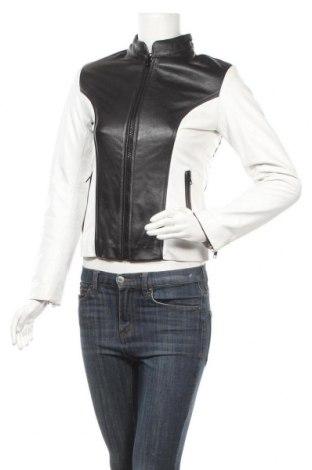 Дамско кожено яке, Размер XS, Цвят Черен, Естествена кожа, Цена 76,17лв.