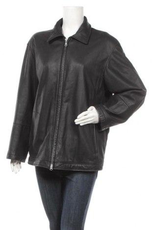 Дамско кожено яке, Размер L, Цвят Черен, Естествена кожа, Цена 20,20лв.