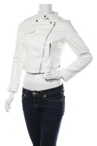 Дамско кожено яке, Размер M, Цвят Бял, Еко кожа, Цена 37,11лв.