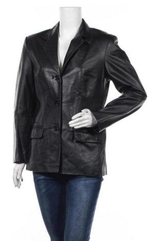 Γυναικείο δερμάτινο σακάκι 4/5/6 Fashion Concept, Μέγεθος M, Χρώμα Μαύρο, Γνήσιο δέρμα, Τιμή 18,64€
