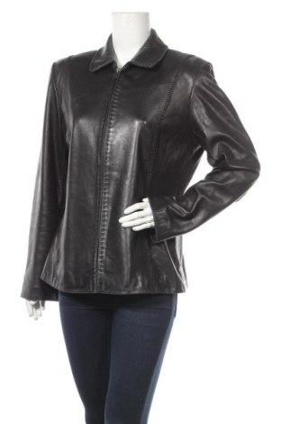 Γυναικείο δερμάτινο μπουφάν Alfani, Μέγεθος L, Χρώμα Μαύρο, Γνήσιο δέρμα, Τιμή 48,13€