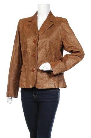 Дамско кожено сако Apt.9, Размер XL, Цвят Кафяв, Естествен велур, Цена 61,43лв.