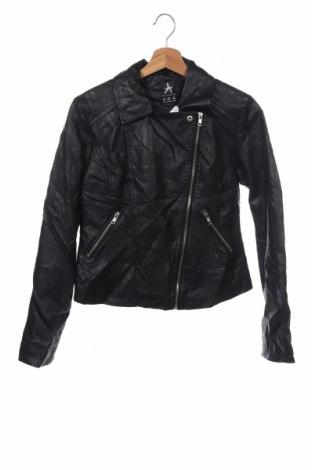 Дамско кожено яке Atmosphere, Размер XS, Цвят Черен, Еко кожа, Цена 43,89лв.