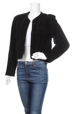 Дамско кожено яке August Silk, Размер L, Цвят Черен, Естествен велур, Цена 45,68лв.
