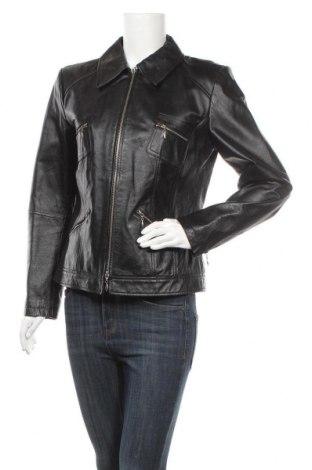 Дамско кожено яке Best Connections, Размер M, Цвят Черен, Естествена кожа, Цена 35,22лв.