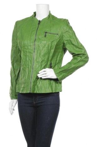 Дамско кожено яке Betty Barclay, Размер XL, Цвят Зелен, Еко кожа, Цена 65,52лв.