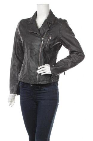 Дамско кожено яке Blue Motion, Размер S, Цвят Сив, Еко кожа, Цена 23,52лв.