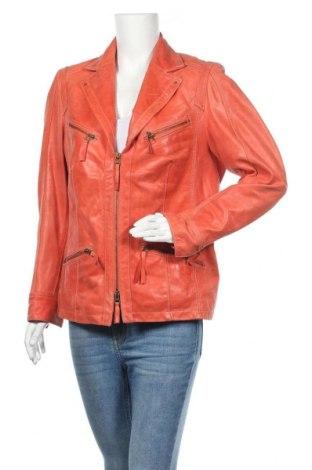 Дамско кожено яке Bonita, Размер XL, Цвят Розов, Естествена кожа, Цена 88,20лв.