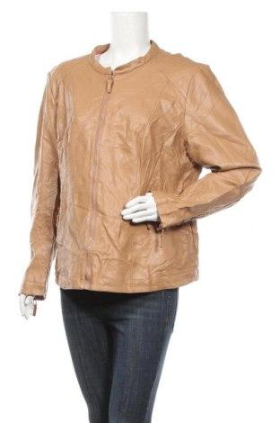 Γυναικείο δερμάτινο μπουφάν Bpc Bonprix Collection, Μέγεθος XXL, Χρώμα  Μπέζ, Δερματίνη, Τιμή 22,21€
