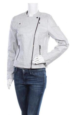Γυναικείο δερμάτινο μπουφάν C&A, Μέγεθος M, Χρώμα Γκρί, Δερματίνη, Τιμή 23,45€