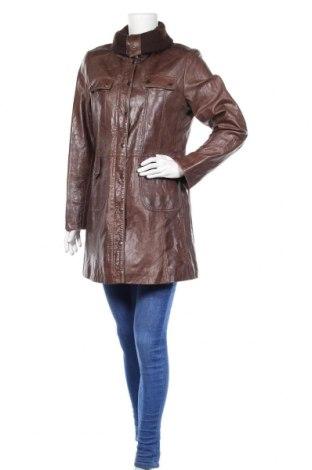 Дамски кожен шлифер Cabrini, Размер M, Цвят Кафяв, Естествена кожа, Цена 69,93лв.