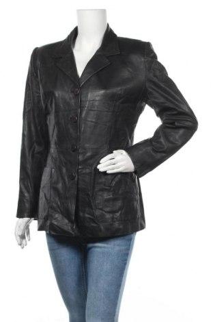 Дамско кожено яке Cabrini, Размер M, Цвят Черен, Естествена кожа, Цена 20,48лв.