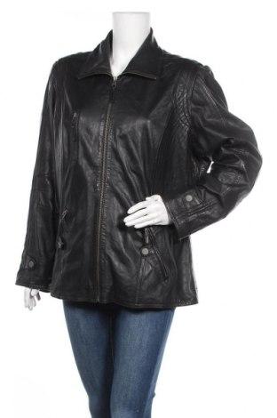 Дамско кожено яке Cabrini, Размер XL, Цвят Черен, Естествена кожа, Цена 66,40лв.