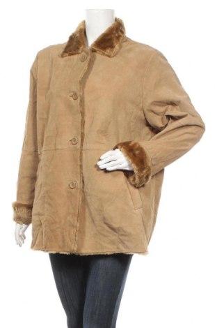 Γυναικείο δερμάτινο μπουφάν Canda, Μέγεθος XL, Χρώμα  Μπέζ, Φυσικό σουέτ, Τιμή 35,33€