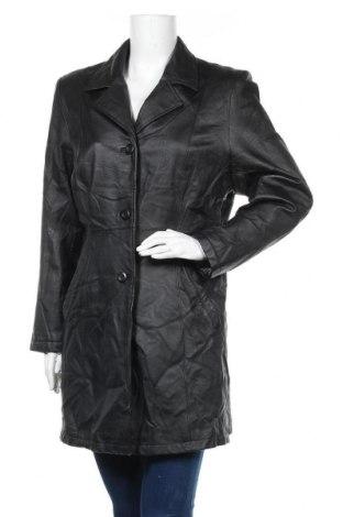 Γυναικείο δερμάτινο μπουφάν Canda, Μέγεθος L, Χρώμα Μαύρο, Γνήσιο δέρμα, Τιμή 16,93€