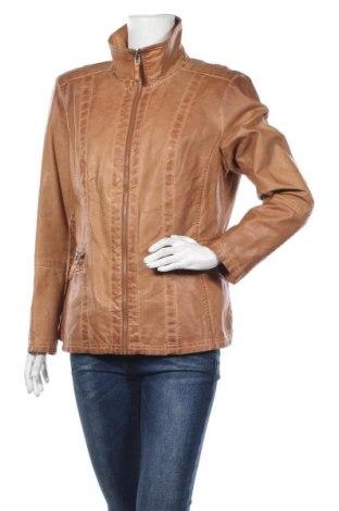 Дамско кожено яке Canda, Размер XL, Цвят Кафяв, Еко кожа, Цена 48,88лв.