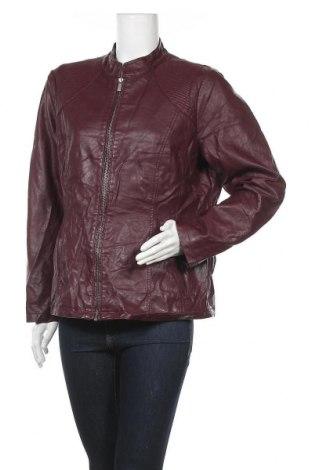 Дамско кожено яке Christopher & Banks, Размер L, Цвят Червен, Еко кожа, Цена 37,80лв.