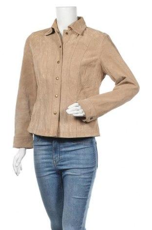 Γυναικείο δερμάτινο μπουφάν Coldwater Creek, Μέγεθος S, Χρώμα  Μπέζ, Φυσικό σουέτ, Τιμή 17,96€