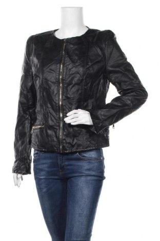 Γυναικείο δερμάτινο μπουφάν Colloseum, Μέγεθος XL, Χρώμα Μαύρο, Δερματίνη, Τιμή 26,89€