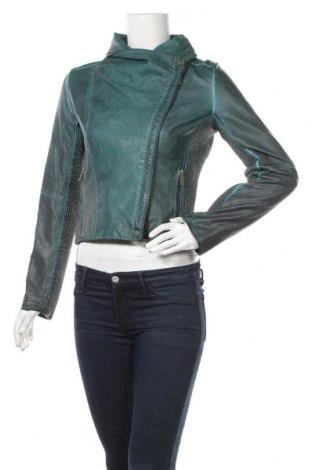 Дамско кожено яке Colours Of The World, Размер XS, Цвят Зелен, Еко кожа, Цена 46,93лв.