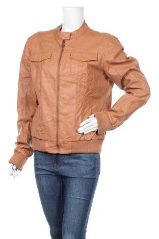 Дамско кожено яке Colours Of The World, Размер XXL, Цвят Кафяв, Еко кожа, Цена 21,37лв.