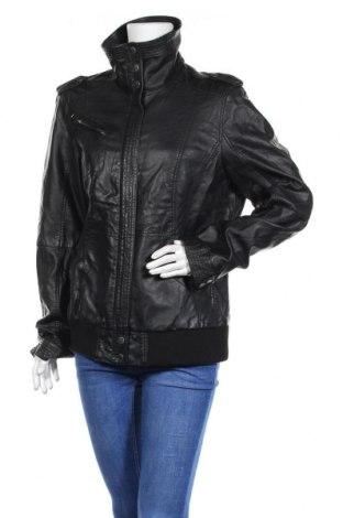 Дамско кожено яке Colours Of The World, Размер XXL, Цвят Черен, Еко кожа, Цена 44,10лв.