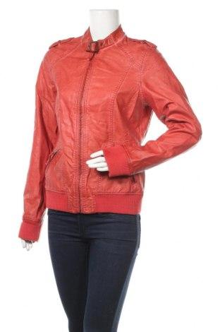 Дамско кожено яке Colours Of The World, Размер XL, Цвят Оранжев, Еко кожа, Цена 9,98лв.