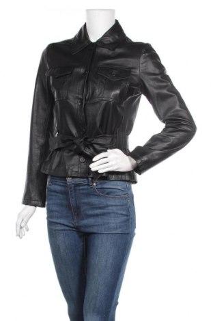 Дамско кожено яке Conbipel, Размер L, Цвят Черен, Естествена кожа, Цена 72,45лв.