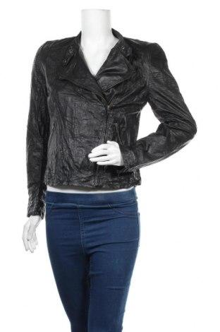 Дамско кожено яке Conleys, Размер L, Цвят Черен, Естествена кожа, Цена 31,24лв.