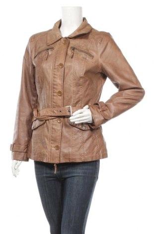 Дамско кожено яке Cool Code, Размер L, Цвят Кафяв, Еко кожа, Цена 37,80лв.