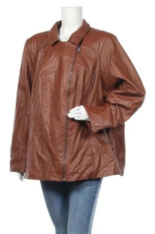 Дамско кожено яке D&Co, Размер 3XL, Цвят Кафяв, Естествена кожа, Цена 102,06лв.