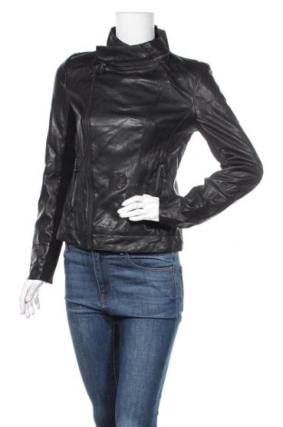 Дамско кожено яке Desigual, Размер M, Цвят Черен, Еко кожа, полиестер, еластан, Цена 73,71лв.
