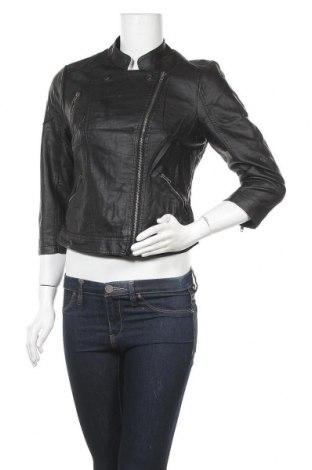 Дамско кожено яке Dotti, Размер M, Цвят Черен, Еко кожа, Цена 33,92лв.