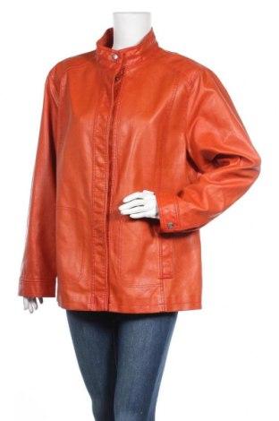 Дамско кожено яке Elena Miro, Размер XL, Цвят Оранжев, Еко кожа, Цена 72,77лв.