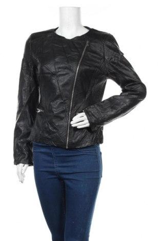 Дамско кожено яке Escandelle, Размер XL, Цвят Черен, Еко кожа, Цена 23,21лв.