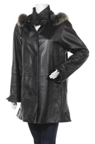 Γυναικείο δερμάτινο μπουφάν Fabiani, Μέγεθος M, Χρώμα Μαύρο, Γνήσιο δέρμα, φυσική τρίχα, Τιμή 31,86€