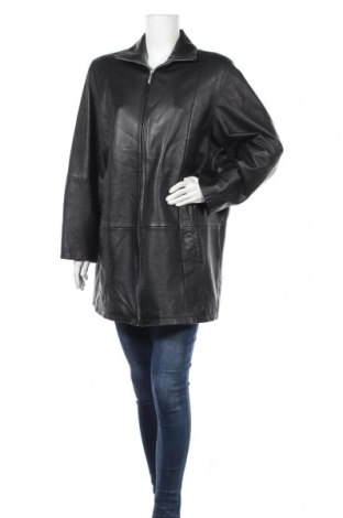 Γυναικείο δερμάτινο μπουφάν Fabiani, Μέγεθος XL, Χρώμα Μαύρο, Γνήσιο δέρμα, Τιμή 17,28€