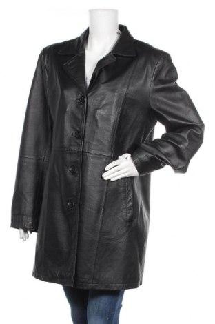 Дамско кожено яке Fabiani, Размер L, Цвят Черен, Естествена кожа, Цена 17,85лв.
