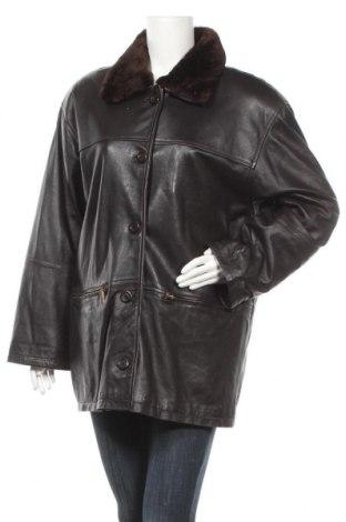 Γυναικείο δερμάτινο μπουφάν Fabiani, Μέγεθος XL, Χρώμα Καφέ, Γνήσιο δέρμα, Τιμή 21,82€