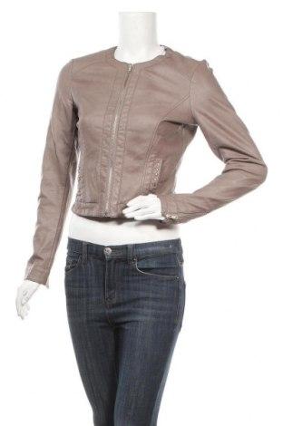 Дамско кожено яке Flame, Размер S, Цвят Сив, Еко кожа, Цена 35,70лв.