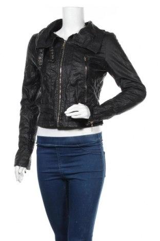 Дамско кожено яке Forever 21, Размер M, Цвят Черен, Еко кожа, Цена 24,99лв.