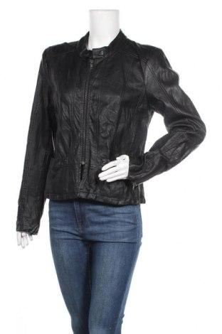 Дамско кожено яке Fransa, Размер L, Цвят Черен, Еко кожа, Цена 35,91лв.