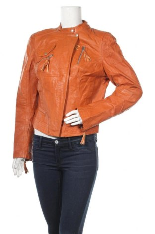 Γυναικείο δερμάτινο μπουφάν Freaky Nation, Μέγεθος L, Χρώμα Πορτοκαλί, Γνήσιο δέρμα, Τιμή 48,06€