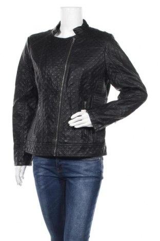 Γυναικείο δερμάτινο μπουφάν Gina, Μέγεθος L, Χρώμα Μαύρο, Δερματίνη, Τιμή 26,89€